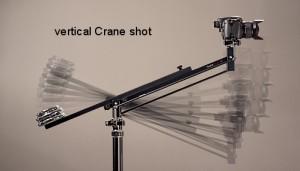 Vertical Crane shot